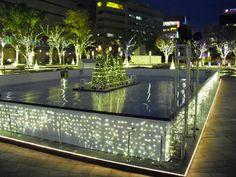 Synthetic ice rink Tenjin Hikari Square Japan