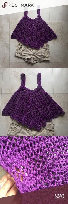 Crochet top Beautiful crochet tank top.  It's loose and airy.  Great top for summer or spring days Tops Tank Tops