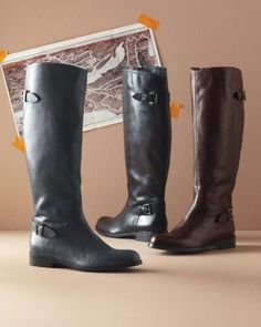 Gabriella Leather Riding Boots on sale at Garnet Hill