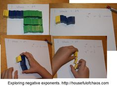Counting by multiples when crafting is a natural, but it can also be used for exploring exponents and negative exponents. Homeschool Math, Homeschooling, Minecraft Challenges, Math Practices, Legos, Kids Learning, Counting, Teaching Ideas, Exploring