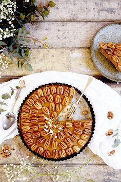 Salted Caramel, Pecan, and Sweet Potato Pie via @MyDomaine