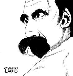 Versão em nanquim do filósofo Nietzsche feito pelo ilustrador Dario Taboka.