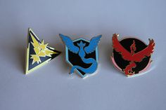 Pokemon Go Team Mystic Gold Metal Pin by TheLightOmelette on Etsy