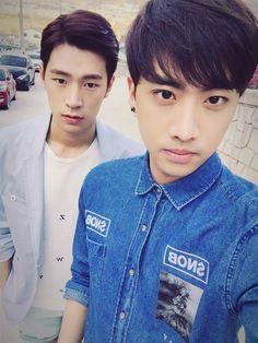 Balls of fluff looking handsome :) #KNK #Seungjun #Inseong
