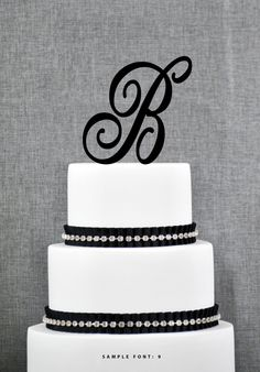New to ChicagoFactory on Etsy: Personalized Monogram Initial Wedding Cake Toppers -Letter B Custom Monogram Cake Toppers Unique Cake Toppers Traditional Initial Toppers (15.00 USD)