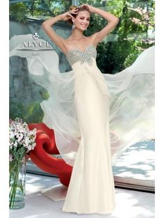 Sheath Floor Length Chiffon Dress