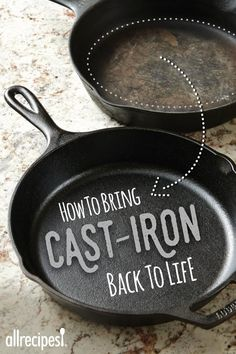 Cast Iron pans are easy to clean, season, and care for. We'll share easy tips and how-tos. Cast Iron Skillet Cooking, Cast Iron Frying Pan, Iron Skillet Recipes, Cast Iron Pot, Cast Iron Recipes, Cast Iron Cookware, It Cast, Frying Pans, Cooking Tips
