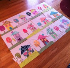 Material Girls Quilts: Come build your own neighborhood