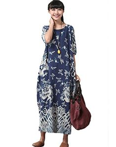 Minibee Summer Maxi Dress,Dragon Print Pattern,Long Gown Blue Minibee http://www.amazon.com/dp/B00Z4YM02S/ref=cm_sw_r_pi_dp_MBDNvb1GHTRZ1