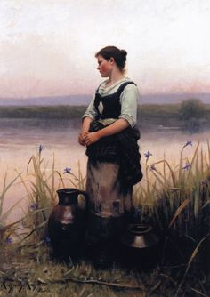 The Athenaeum -  Far Away Thoughts Daniel Ridgway Knight - Date unknown Private collection Height: 66.04 cm (26 in.), Width: 96.52 cm (38 in.)