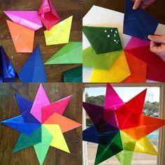 rainbow birthday party | paint cut paste