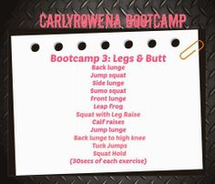 New Post, tone your legs & lift your butt with this 8 minute bodyweight workout! xox