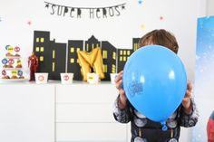Une «Super Héros Party» pour ses 4 ans Captain America, Spiderman, Superhero, Party, Birthday, Spider Man, Parties, Amazing Spiderman