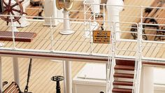 Every feature of Titanic—staircases, lifeboats, deck chairs, rivets—was replicated in miniature.