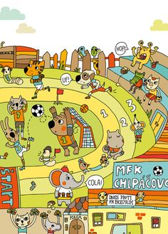 Maria Neradova Illustration: Amazing Illustrator for story starters, noun searches, I spy, etc. Language Activities, Sensory Activities, Vive Le Sport, Writing Pictures, Receptive Language, Speech Language Therapy, Language Classes, Language Development, Patterns