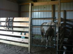 Easy Peasy horse stall.