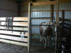 Easy Peasy horse stall.