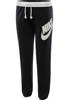 Can't seem to get off the couch? Let the cozy comfort of the NIKE® women's Rally sweatpants provide a little extra motivation to get you moving! The brushed interior promises superior softness and warmth, while the elastic waistband and cuffs ensure a snug fit. Signature graphics at the left leg and back waistband add a little extra swagger.<br><br>Get your new NIKE® women's sweatpants today from Sports Authority.