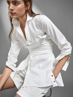 Camisas Blancas - Camisas y Blusas - MUJER - Massimo Dutti España
