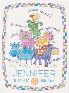 Birth Announcement Cross-stitch