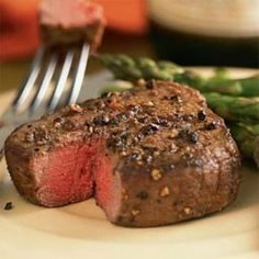 Filet Mignon with Garlic butter (with sauteed mushrooms and onions)
