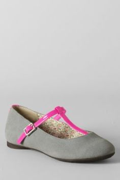 b9e4c883f17 Girls  Kailey T-strap Ballet Shoes from Lands  End