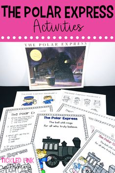 Book companion activities for The Polar Express. Activities include sequencing, retelling/vocabulary cards, a comprehension quiz, student book, etc. Polar Express Book, Polar Express Activities, Polar Express Theme, Sequencing Activities, Comprehension Activities, Kindergarten Activities, Writing Activities, Classroom Activities, Writing Resources