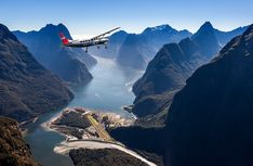 If you are already in Milford Sound, fly back to Queenstown over the Southern Alps, above the famous Milford Track and beside the Sutherland Falls before you reach the striking Lake Wakatipu and land at Queenstown Airport.Return to Queenstown via the Milford Track, Milford Sound, Croatia Travel Guide, Lake Wakatipu, Australia Tours, Vacation Deals, Vacation Packages, Romantic Travel, Pacific Ocean