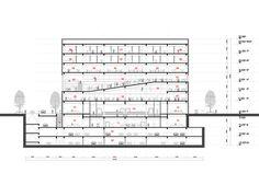 Tsinghua Law Library Building Proposal / Kokaistudios,section 02