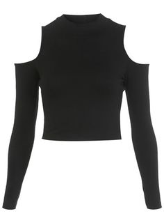 Longsleeve Turtle Crop Top - Tops  - Clothing