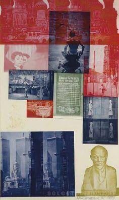 Rauschenberg, Soviet American Array 1, 1988-89