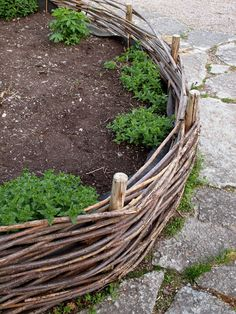 Raised beds made pretty