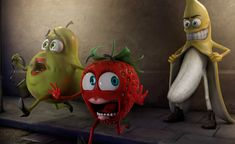 nice Funny Bad Fruit Wallpaper