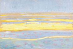 By The Sea: Piet Mondrian, Jan Toorop and Jacoba van Heemskerck at Gemeentemuseum Den Haag - Events on artnet Landscape Paintings, Abstract Artists, Artist Inspiration, Dutch Painters, Dutch Artists, Painting, Art Movement, Abstract, Piet Mondrian Painting