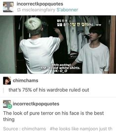 Aww poor Kookie! What is he going to wear then???