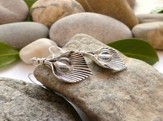 ★Idée bijoux fêtes★ Boucles d'oreilles argent 925 et cristal de roche, boucles d'oreilles féeriques, bijoux en pierres fines : Boucles d'oreille par lapassiondisabelle