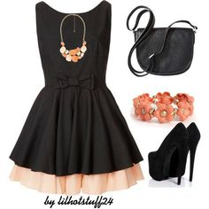 black glamorous outfit.