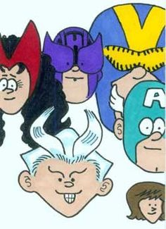 Avengers by Fred Hembeck   comic books Fred Hembeck
