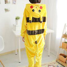 Kigurumi Pijamas Pika Pika Malha Collant/Pijama Macacão Festival/Celebração Pijamas Animal Amarelo Miscelânea Lã Polar Kigurumi Para de 1026080 2016 por $20.79