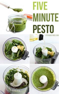 5 Minute Pesto- an easy recipe that you can whip up in five!