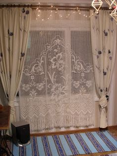 Beautiful curtain, found on : http://mustrilaegas.blogspot.co.uk/search/label/Kardinad Pattern on request per e-mail  Site is in Estonian, use translator.