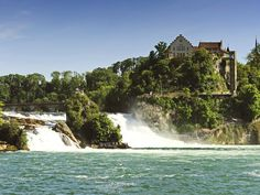 The best time to visit Switzerland's Rhine Falls is between April and October. Tourists flock to the city of Schaffhausen to see the falls via a guided boat tour or train ride. Outdoor enthusiasts can also visit Adventure Park, the country's largest rope park, built at the Rhine Falls.