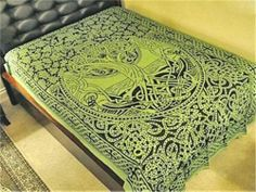 Green Celtic Tree of Life Tapestry or Altar Cloth Pagan Wicca Witch   eBay