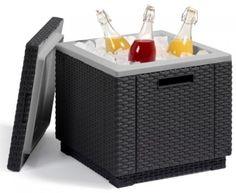 Ice Box Cooler Garden Part BBQ Cuber Beer Drinks Outdoor Stool Wicker Patio Pool