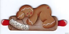 "HP GINGERBREAD ""Kitchen Closed"" FRIDGE MAGNET ebay  stonehouse28"