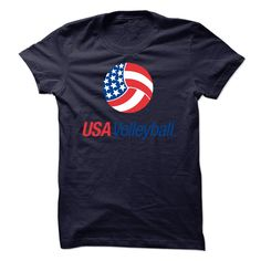 USA Volleyball Flag T-Shirts, Hoodies. SHOPPING NOW ==► https://www.sunfrog.com/Funny/USA-Volleyball-Flag.html?id=41382