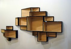 Very cool shelves by Dutch designer Ka-Lai Chan. Storage Design, Shelf Design, Cd Storage, Storage Ideas, Trendy Furniture, Furniture Design, Cool Shelves, Etagere Design, Modern Bookcase