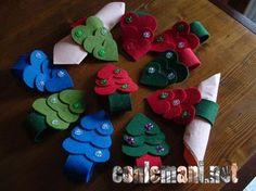 Portatovaglioli in morbido feltro! #rossonatale #conlemani