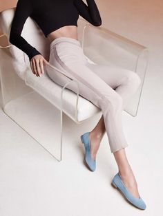 stuartweitzmanlove: Style is in the jeans. Meet the denim-hued CHICFLAT. #stuartweitzman From stuartweitzmanlove closet STUART WEITZMAN The Chicflat2 Flat
