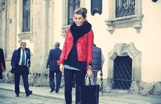 red leather jacket <3